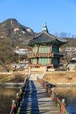 Hyangwonjeongpaviljoen stock foto