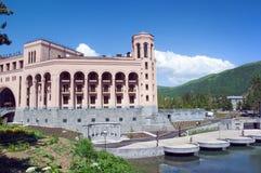 Hyatt-Platz Jermuk-Hotel Grüne szenische Berge und blauer Himmel des freien Raumes armenien Stockfoto