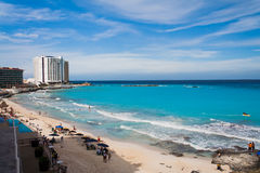 Hyatt Regency Hotel in Cancun Royalty Free Stock Photo