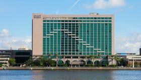 The Hyatt Regency, Jacksonville, Florida. The Hyatt Regency located in downtown Jacksonville, Florida stock images