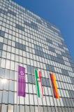 Hyatt regenskaphotell i dusseldorf Arkivbilder
