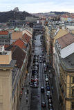 Hybernska street in Prague Royalty Free Stock Image