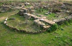 hyblea megara小的寺庙 免版税图库摄影