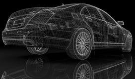 Hybrid сar 3D model Stock Photo