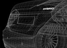 Hybrid сar 3D model Royalty Free Stock Image