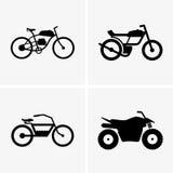 Hybrid bikes and atv Stock Images