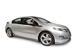 Hybrid- bil som isoleras på vit arkivbilder