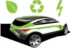 Hybrid car. An illustration of a hybrid car Stock Photo