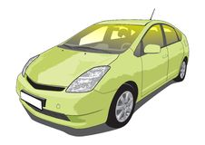 Hybrid car Vector Illustration