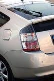 Hybrid car backside. Backside of a hybrid car royalty free stock images