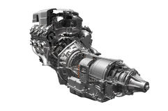 Hybrid car engine Royalty Free Stock Photography