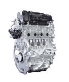 Hybrid car engine isolated on white with clipping path. Hybrid car engine isolated on white background with clipping path stock photo