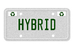 Hybrid Car License Plate Royalty Free Stock Image