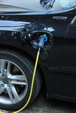 Hybrid car recharge Stock Photography