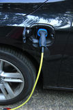 Hybrid car recharge Stock Photos