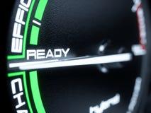 Hybrid car tachometer panel Stock Photography