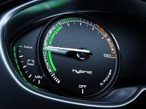 Hybrid car tachometer panel Royalty Free Stock Images