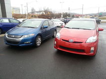 Hybrid Cars: Toyota Prius and Honda Insight Royalty Free Stock Photos