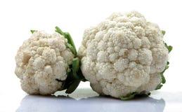 Hybrid Cauliflowers. Fresh cauliflowers vegetable isolated on white background Royalty Free Stock Photos