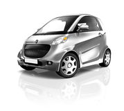Hybrid and Electric Black Car Royalty Free Stock Image