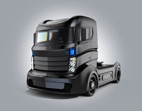 Hybrid electric truck  on gray background Stock Photos