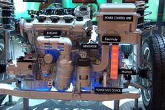 Hybrid gas electric engine Stock Image