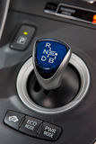 Hybrid gear shifter Royalty Free Stock Photo