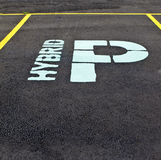 Hybrid Parking Sign Stock Images