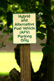 Hybrid parking sign Royalty Free Stock Photo