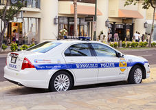 Hybrid Police Cruiser Royalty Free Stock Photo