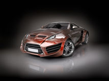 Hybrid sports car vector illustration