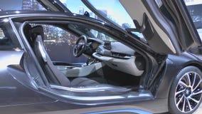 Hybrid sports car BMW i8 Royalty Free Stock Photos