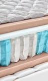 Hybrid- tvärsnitt för madrass för vår för bonnell för skumlatex Arkivbild