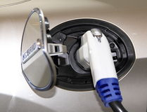 Hybrid Vehicle Recharge Royalty Free Stock Images
