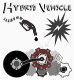 Hybrid Vehicle, Vector royalty free stock images