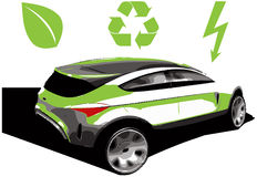 Hybride auto Stock Foto