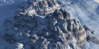 Hybride Berge Stockbild