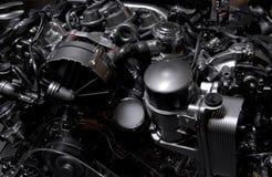 Hybride dark van motormercedes Royalty-vrije Stock Foto's
