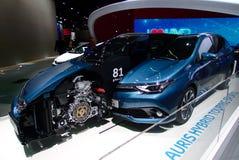 Hybride de Toyota voyageant des sports aux voitures d'IAA Image stock