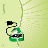 Hybride Elektrische Auto Royalty-vrije Stock Foto's