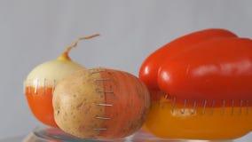 Hybrides de légumes Concept génétiquement modifié de légumes banque de vidéos