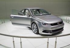 Hybrides elektrisches Auto Stockfoto