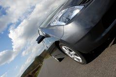 Hybrides elektrisches Auto. Stockfoto