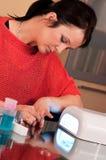 Hybrydowy manicure Zdjęcie Royalty Free