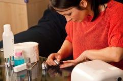 Hybrydowy manicure Zdjęcia Royalty Free