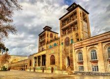 Hycklar-ol-Emaneh byggnad av den Golestan slotten Arkivfoto