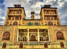Hycklar-ol-Emaneh byggnad av den Golestan slotten - Teheran Arkivfoto