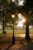 Hyde Park. At Sunset Stock Photography