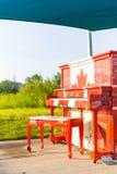 Hyde Park Canadian Piano Royaltyfri Foto