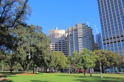 Hyde park cityscape Sydney Australia. Hyde park cityscape in Sydney Australia Royalty Free Stock Images